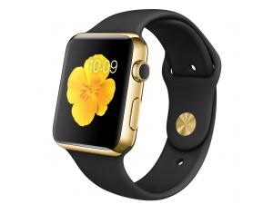 Watch Edition (42 mm) 18 Ayar Sarı Altın Kasa ve Siyah Spor Kordon Apple