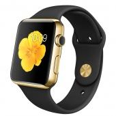 Apple Watch Edition (42 mm) 18 Ayar Sarı Altın Kasa ve Siyah Spor Kordon