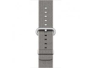 Apple Watch Seri 2 42 mm Gümüş Rengi Alüminyum Kasa ve Naylon Örme İnci Grisi Kordon - MNPK2TU/A