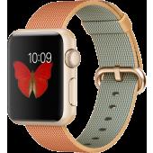 Apple Watch Sport (38 mm) Altın Rengi Alüminyum Kasa ve Naylon Örme Altın/Kırmızı Kordon
