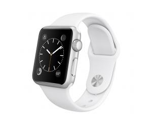 Watch Sport (38 mm) Gümüş Rengi Alüminyum Kasa ve Beyaz Spor Kordon Apple