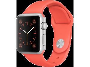 Watch Sport (38 mm) Gümüş Rengi Alüminyum Kasa ve Kayısı Rengi Spor Kordon Apple