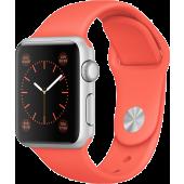 Apple Watch Sport (38 mm) Gümüş Rengi Alüminyum Kasa ve Kayısı Rengi Spor Kordon