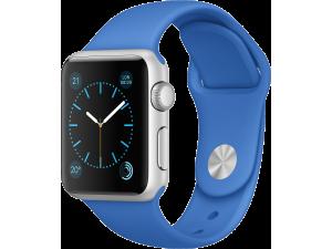 Watch Sport (38 mm) Gümüş Rengi Alüminyum Kasa ve Kraliyet Mavisi Spor Kordon Apple
