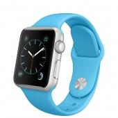 Apple Watch Sport (38 mm) Gümüş Rengi Alüminyum Kasa ve Mavi Spor Kordon