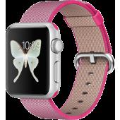 Apple Watch Sport (38 mm) Gümüş Rengi Alüminyum Kasa ve Naylon Örme Pembe Kordon