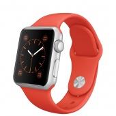 Apple Watch Sport (38 mm) Gümüş Rengi Alüminyum Kasa ve Turuncu Spor Kordon