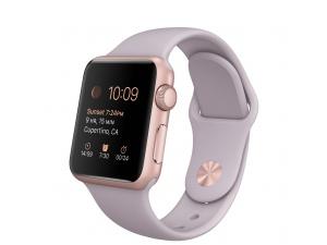 Watch Sport (38 mm) Roze Altın Rengi Alüminyum Kasa ve Lavanta Spor Kordon Apple