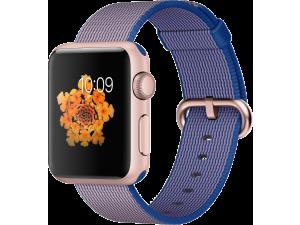 Watch Sport (38 mm) Roze Altın Rengi Alüminyum Kasa ve Naylon Örme Kraliyet Mavisi Kordon Apple