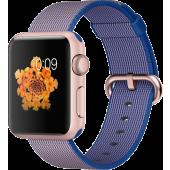 Apple Watch Sport (38 mm) Roze Altın Rengi Alüminyum Kasa ve Naylon Örme Kraliyet Mavisi Kordon