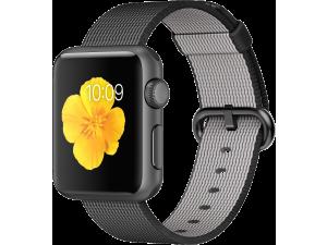 Watch Sport (38 mm) Uzay Grisi Alüminyum Kasa ve Naylon Örme Siyah Kordon Apple
