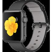 Apple Watch Sport (38 mm) Uzay Grisi Alüminyum Kasa ve Naylon Örme Siyah Kordon