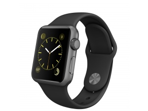Watch Sport (38 mm) Uzay Grisi Alüminyum Kasa ve Siyah Spor Kordon Apple