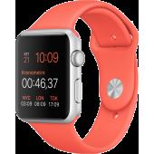 Apple Watch Sport (42 mm) Gümüş Rengi Alüminyum Kasa ve Kayısı Rengi Spor Kordon