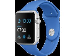 Watch Sport (42 mm) Gümüş Rengi Alüminyum Kasa ve Kraliyet Mavisi Spor Kordon Apple