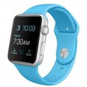 Apple Watch Sport (42 mm) Gümüş Rengi Alüminyum Kasa ve Mavi Spor Kordon