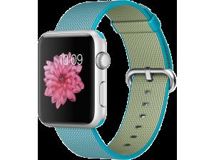 Watch Sport (42 mm) Gümüş Rengi Alüminyum Kasa ve Naylon Örme Tropik Mavi Kordon Apple