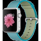 Apple Watch Sport (42 mm) Gümüş Rengi Alüminyum Kasa ve Naylon Örme Tropik Mavi Kordon