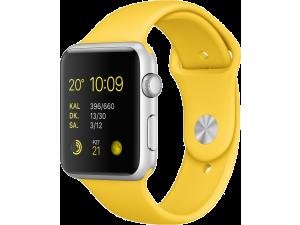 Watch Sport (42 mm) Gümüş Rengi Alüminyum Kasa ve Sarı Spor Kordon Apple