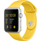 Apple Watch Sport (42 mm) Gümüş Rengi Alüminyum Kasa ve Sarı Spor Kordon