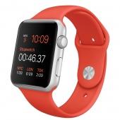 Apple Watch Sport (42 mm) Gümüş Rengi Alüminyum Kasa ve Turuncu Spor Kordon