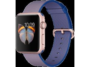 Watch Sport (42 mm) Roze Altın Rengi Alüminyum Kasa ve Naylon Örme Kraliyet Mavisi Kordon Apple