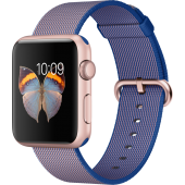 Apple Watch Sport (42 mm) Roze Altın Rengi Alüminyum Kasa ve Naylon Örme Kraliyet Mavisi Kordon