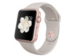 Watch Sport (42 mm) Roze Altın Rengi Alüminyum Kasa ve Taş Rengi Spor Kordon Apple