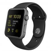 Apple Watch Sport (42 mm) Uzay Grisi Alüminyum Kasa ve Siyah Spor Kordon