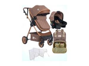 4 Baby Balans Gold Travel Bebek Arabası+Puset+Bebek Bakım Çantası+Yağmurluk