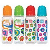 Bebedor Orta Akış Silikon Emzikli Desenli Geniş Ağızlı Biberon 250 ml
