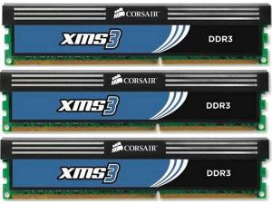 6GB (3x2GB) DDR3 1600MHz CMX6GX3M3A1600C9 Corsair
