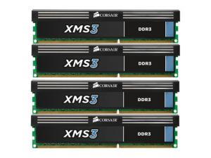 XMS3 16GB (4x4GB) DDR3 1600MHz CMX16GX3M4A1600C9 Corsair