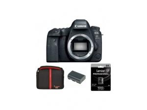 Canon EOS 6D Mark II Fotoğraf Makinesi +  Dslr Çantası + Lexar 64GB 1000X SD Kart
