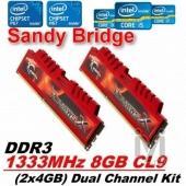 GSKILL 8GB (2x4GB) DDR3 1333Mhz F3-10666CL9D-8GBXL