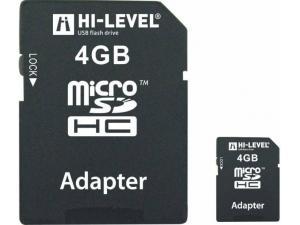 MicroSDHC 4GB HLV-MCSDHC4-4G Hi-Level