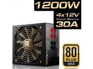 1200W Plus Serisi 20+4 Pin 13.5cm Fan 80 GOLD Modüler AktifPFC Highpower