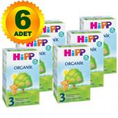 Hipp 1 Organik Bebek Mamasi 300 Gr 6`lı Paket