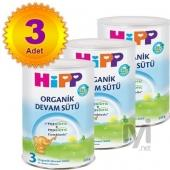 Hipp 3 Organik Combiotik Bebek Sütü 350 gr 3 Adet