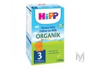 3 Organik Devam Sütü (Bebek Maması) 300 gr Hipp
