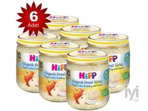 Kavanoz Maması Organik Elmalı Sütlaç 200 Gr 6`lı Paket Hipp