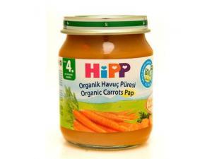 Kavanoz Maması Organik Havuç Püresi 125 Gr 6`lı Paket Hipp