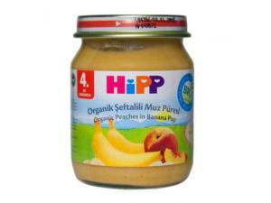 Kavanoz Maması Organik Şeftali Muz Püresi 125 Gr 6`lı Paket Hipp