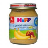 Hipp Kavanoz Maması Organik Şeftali Muz Püresi 125 Gr 6`lı Paket