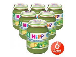 Kavanoz Maması Patatesli Ispanak 125 Gr 6`lı Paket Hipp