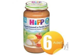 Organik Domatesli Ve Tavuklu Patatesli Kavanoz Maması 220Gr 6 Adet Hipp
