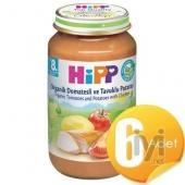 Hipp Organik Domatesli Ve Tavuklu Patatesli Kavanoz Maması 220Gr 6 Adet