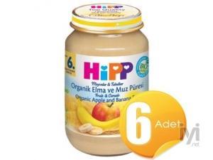 Organik Elma Ve Muz Püresi 200Gr 6 Adet Hipp