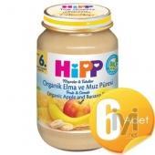 Hipp Organik Elma Ve Muz Püresi 200Gr 6 Adet