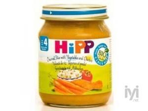 Organik Pirincli ve Tavuklu Sebze 125gr Hipp
